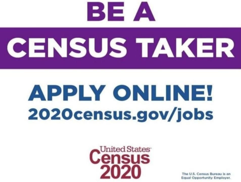 Be a Census taker for 2020 apply now