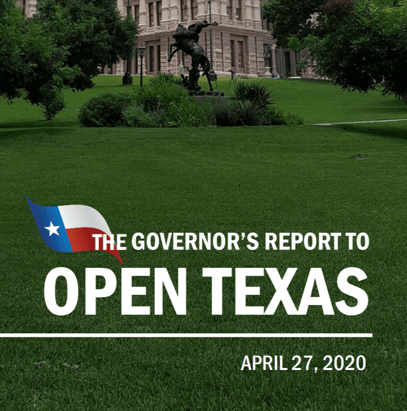 Texas Governor's Plan to Reopen Texas Link